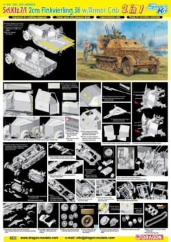 Sd.Kfz.7/1 2cm Flakvierling 38 w/Armor Cab (2 in 1)