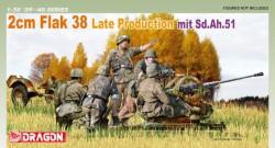 2cm Flak 38 Late Production mit Sd.Ah.51