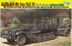 SD.KFZ.10/4 für 2cm FLAK 30 1940 w/AMMO TRAILER