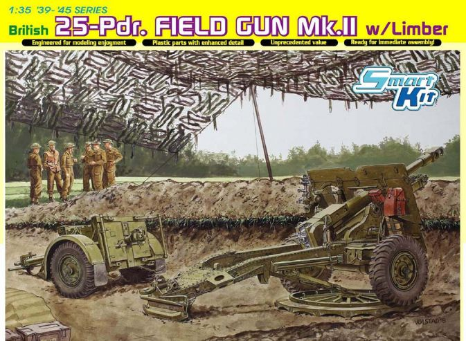 British 25pdr Field Gun Mk.II w/Limber (Smart Kit)