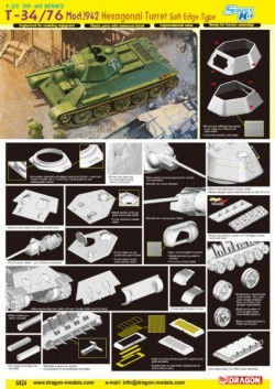T-34/76 Mod.1942, HEXAGONAL TURRET SOFT EDGE TYPE (SMART KIT)