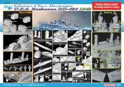U.S.S. BUCHANAN DDG-484 GLEAVES CLASS DESTROYER 1942 (SMART KIT)
