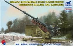 German Rheinmetall Rheinbote Rakete Rheinbote(Rh.Z.61/9) and launcher