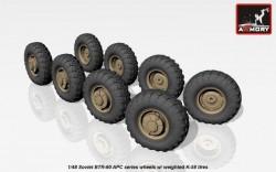 BTR-60 APC Soviet APC wheels w/ weighted K-58 tires