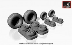 """Panavia """"Tornado"""" wheels w/ weighted tires, type 2"""