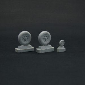 Spitfire wheels set 5 spoke, smooth tire Light series