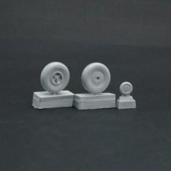Spitfire wheels set 4 spoke, smooth tire Light series