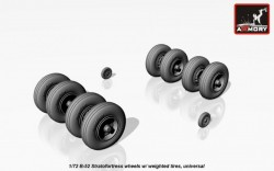B-52 Stratofortress wheels w/ weighted tires, universal