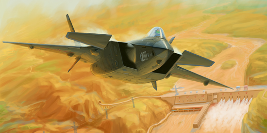 Chinese J-20 Mighty Dragon (Prototype No.2011)