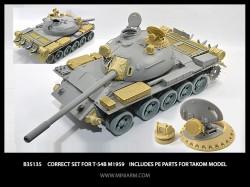 Correct set for T-54B m1959 Includes PE parts