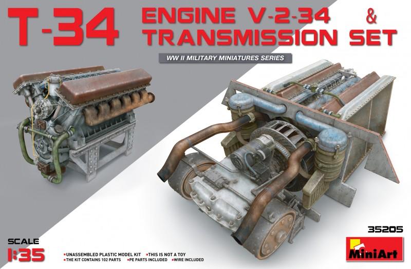 T-34 Engine(V-2-34) & Transmission Set