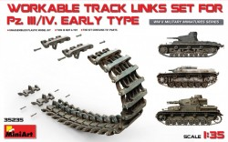 Pz.Kpfw III/IV Workable Track Links Set Early Type