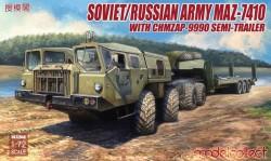 Soviet/Russian Army MAZ-7410 with ChMZAP-9990 semi-trailer