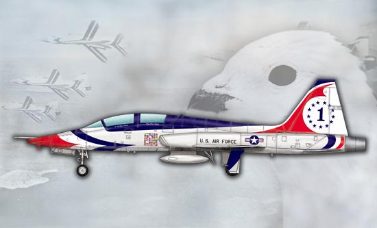 US T-38A Talon-Thunderbird