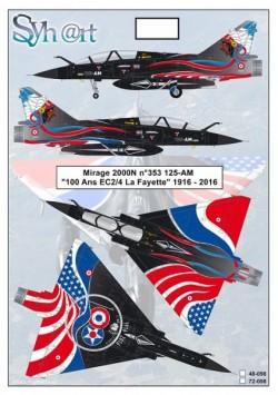 """Mirage 2000N n°353 125-AM """"100 Years EC 2/4 La Fayette"""" 1916 - 2016"""