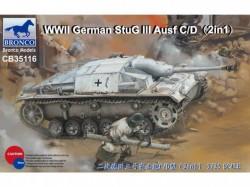 WWII German StuG III Ausf C/D with 75mm StuK 37/L24&75mm StuK40/L48(2in1)