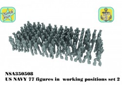 US NAVY figures in  working positions set 2