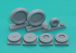 1/24 Bf-109G6 wheels set (smooth tires) No Mask series