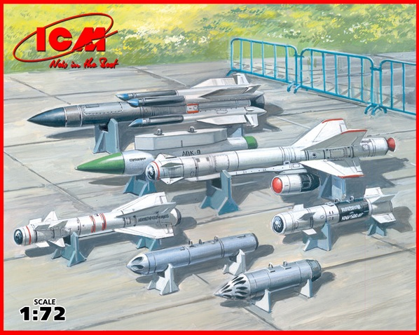 Soviet Air-to-Surface Armament (X-29T,X-31P,X-59M missiles, B-13L, B-8M1 rockets containers, KAB-500