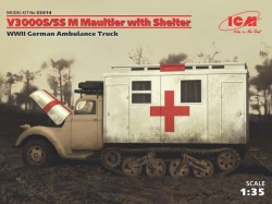 V3000S/SS m Maultier with Shelter,WWII German Truck