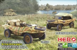 Schwimmwagen Type 166 (2in1 MG34 and canvas cover)