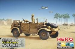 Kubelwagen Type82 (Africa Korps MG34 Fuel Tank Frame Balloon Tires)