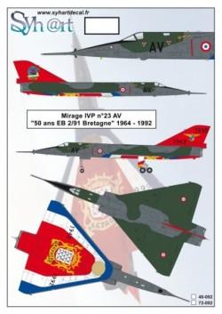 "Mirage IVP #23 AV ""50 years EB 2/91 Bretagne"" 1942-1992"