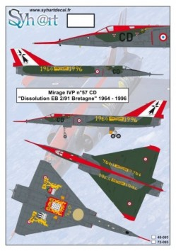 "Mirage IVP #57 CD ""Retirement EB 2/91 Bretagne"" 1964-1996"
