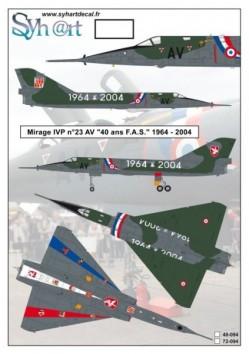 """Mirage IVP #23 AV """"40 years FAS"""" 1964-2004"""