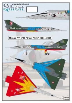"""Mirage IVP #59 CF """"C'est Fini"""" 1964-2005"""