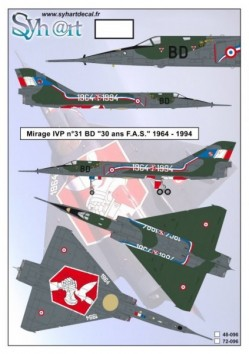 "Mirage IVP #31 BD ""30 years FAS"" 1964-1994"