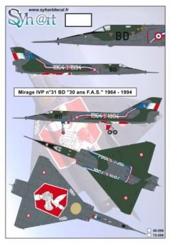 """Mirage IVP #31 BD """"30 years FAS"""" 1964-1994"""