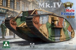 WWI Heavy Battle Tank Mk.IV 2 in 1(Special Edition new decal, cement-free)