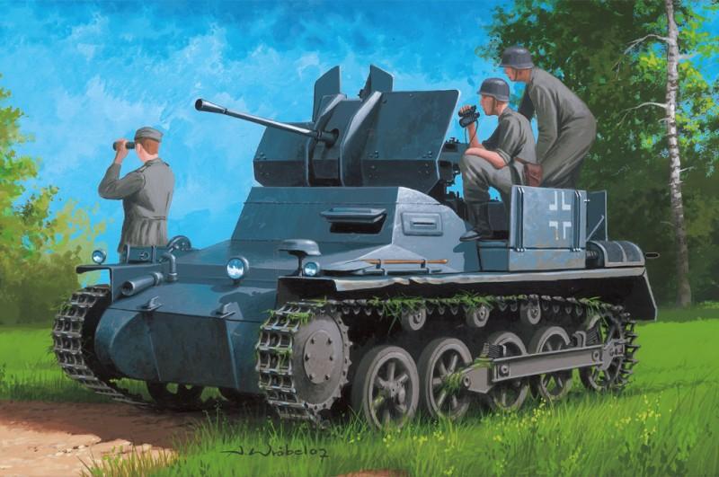 German Flakpanzer IA w/Ammo.Trailer