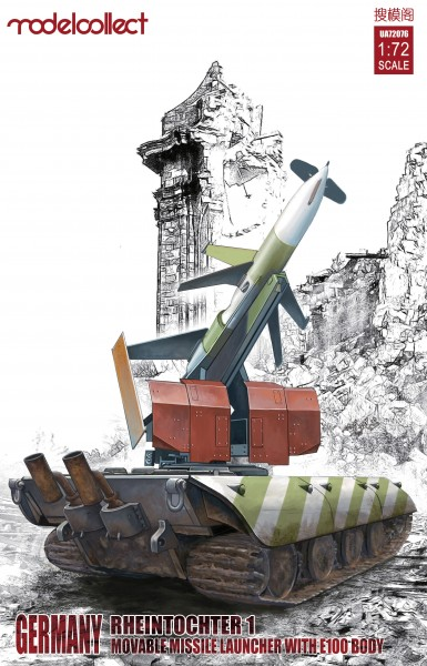 Germany Rheintochter 1 movable Missile launcher with E100 body