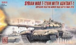 Syrian War T-72BM with  Kontakt-1 explosive reactive armor Main Battle Tank 2016