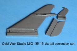 Mig-15, MiG-15 bis and MiG-15 UTI vertical fin correction set (Trumpeter kit)