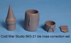 MiG-21 bis nose correction set (Eduard kit)
