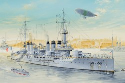 French Navy Pre-Dreadnought Battleship Voltaire