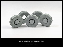 Wheels set for GaZ Tiger 4pcs plus extra