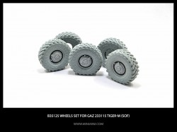 Wheels set for GaZ Tiger-M (SOF) 4pcs plus extra