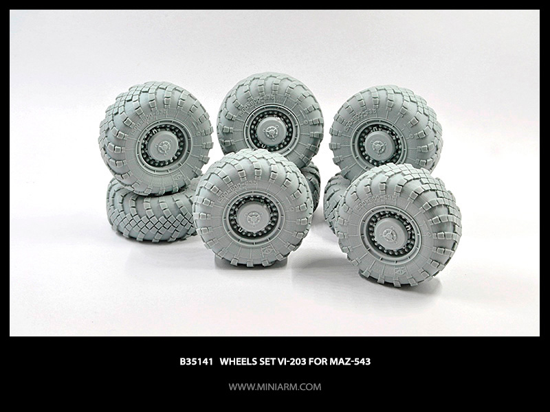 Sagged wheels set Vi-203 for MaZ-543 (8pcs)