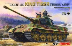 German Heavy Tank Sd.Kfz.182 King Tiger (Henschel Turret) with 2 figures included