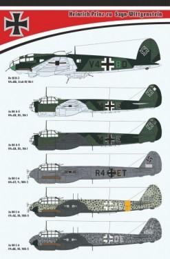 Prinz zu Sayn-Wittgenstein (He 111, Ju 88 A, 3xJu 88 C-6)