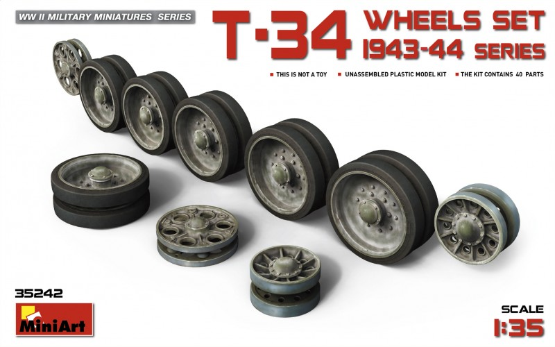 T-34 Wheels set. 1943-44 series