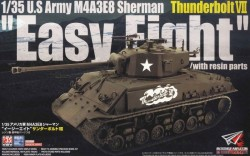 """Sherman M4A3E8 Easy Eight """"Thunderbolt VII"""" with resin"""