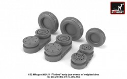 Mikoyan MiG-21 Fishbed wheels w/ weighted tires, early
