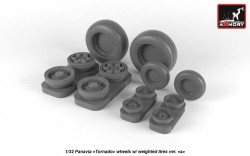 """Panavia """"Tornado"""" wheels w/ weighted tires, type 1, universal"""