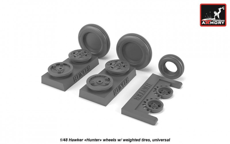 """Hawker """"Hunter"""" wheels w/ weighted tires, universal"""