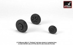 Mikoyan MiG-21 Fishbed mid type wheels w/ weighted tires
